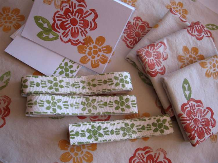stamped fabric swap